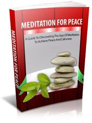 Meditation For Peace